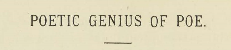 Warfield, Benjamin Breckinridge, Poetic Genius of Poe Title Page.jpg
