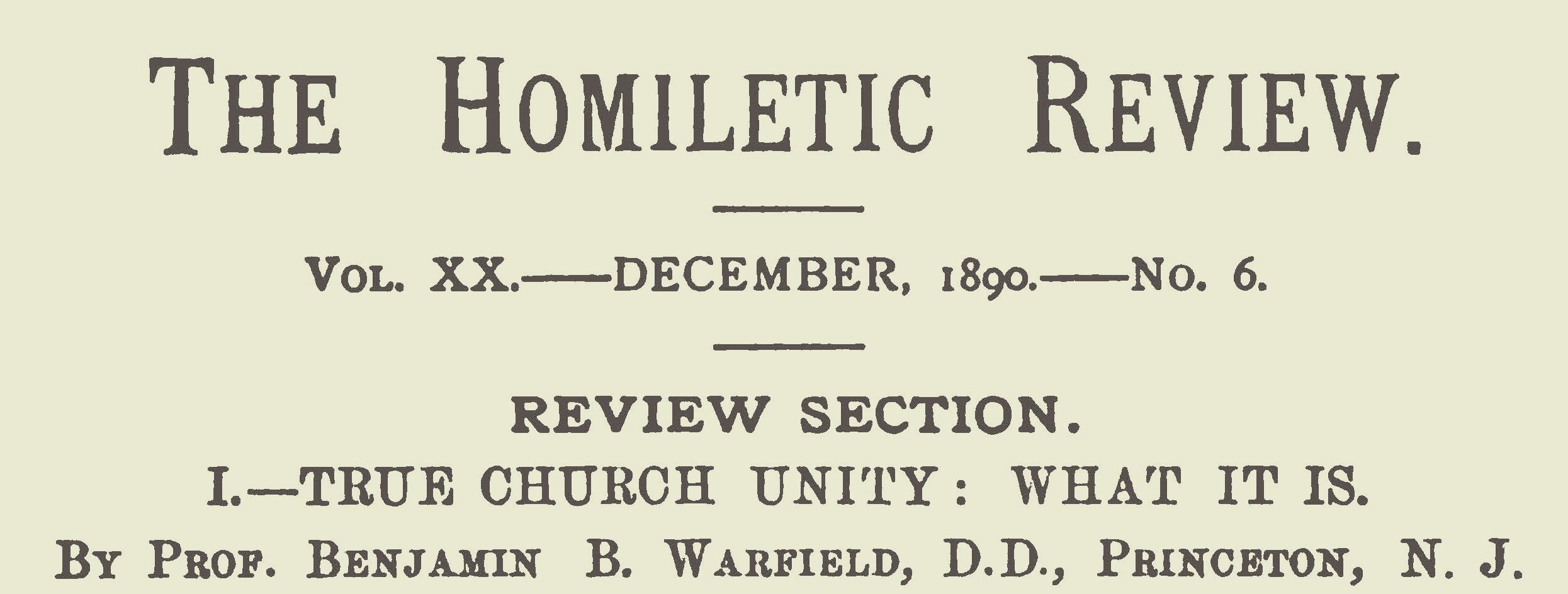 Warfield, Benjamin Breckinridge, True Church Unity What It Is Title Page.jpg