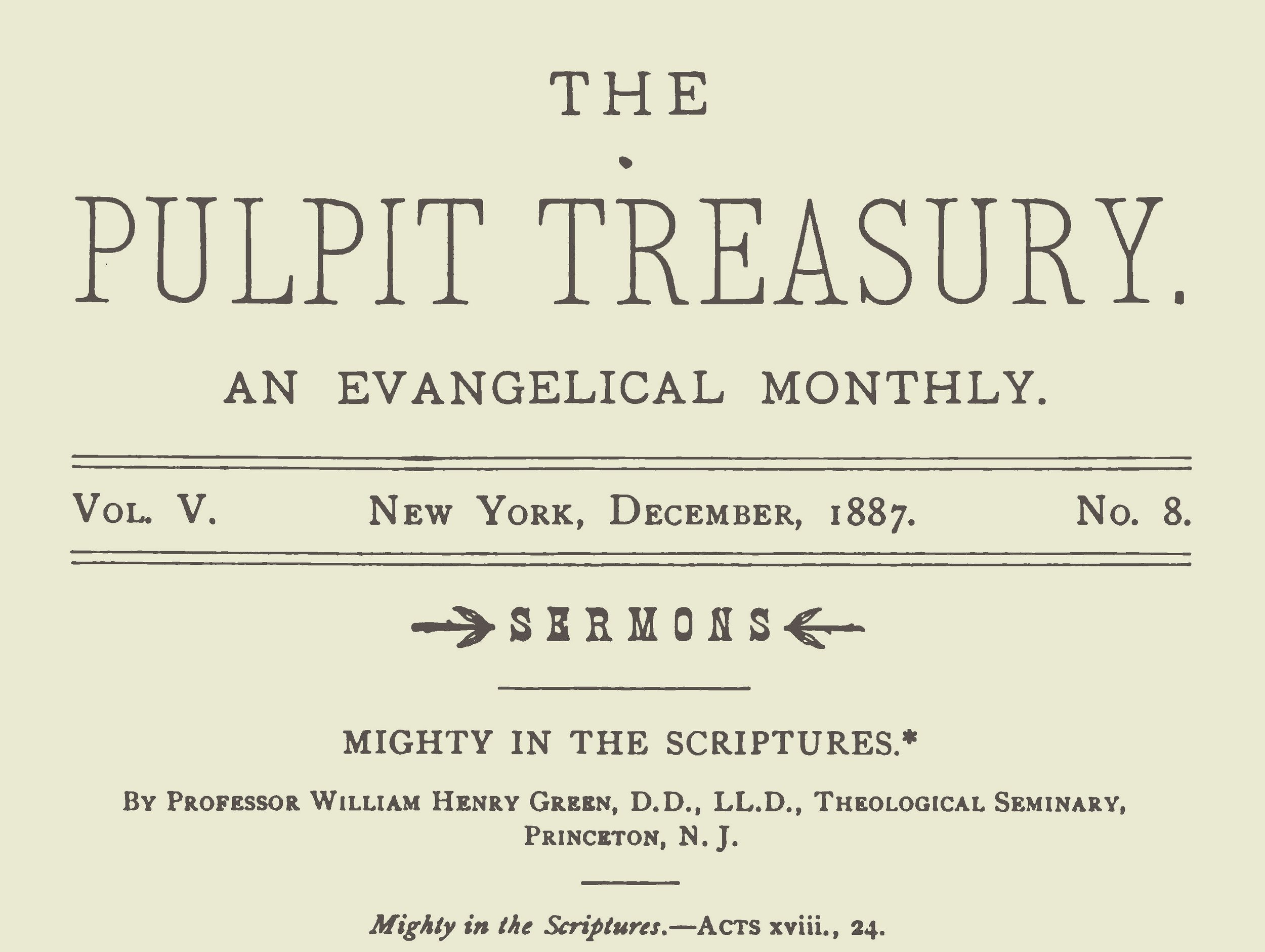 Green, William Henry, Mighty in the Scriptures Title Page.jpg