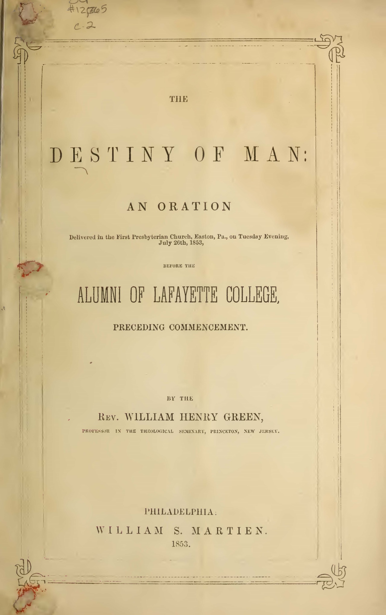 Green, William Henry, The Destiny of Man Title Page.jpg