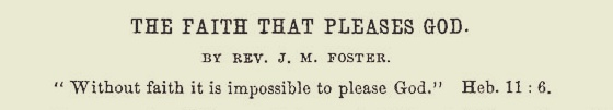 Foster, James Mitchell, The Faith That Pleases God Title Page.jpg