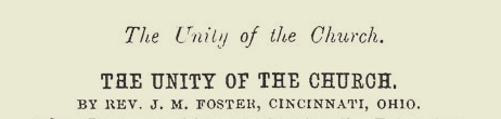 Foster, James Mitchell, The Unity of the Church Title Page.jpg
