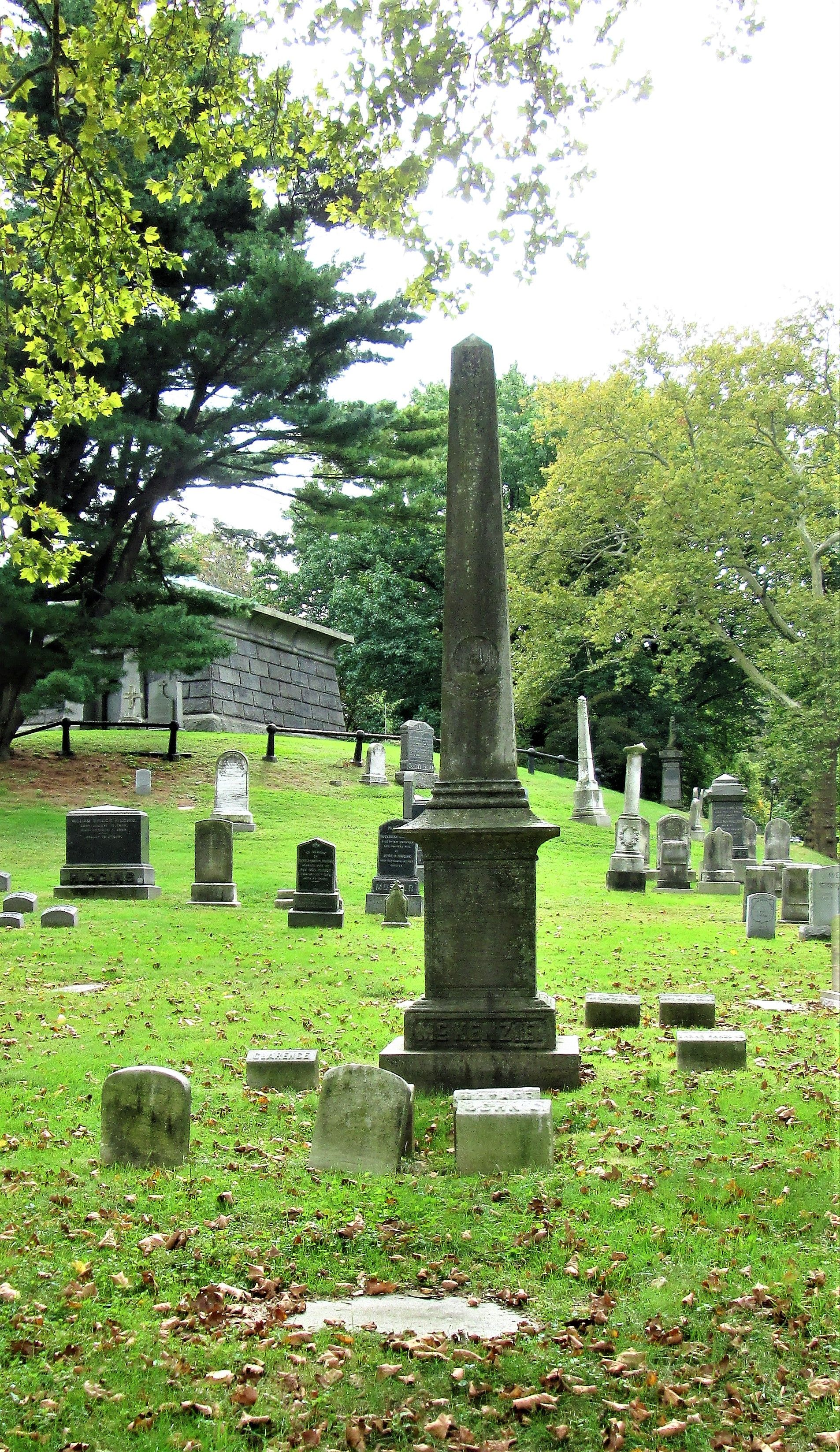 Jonathan Greenleaf is buried at Green-Wood Cemetery, Brooklyn, New York.