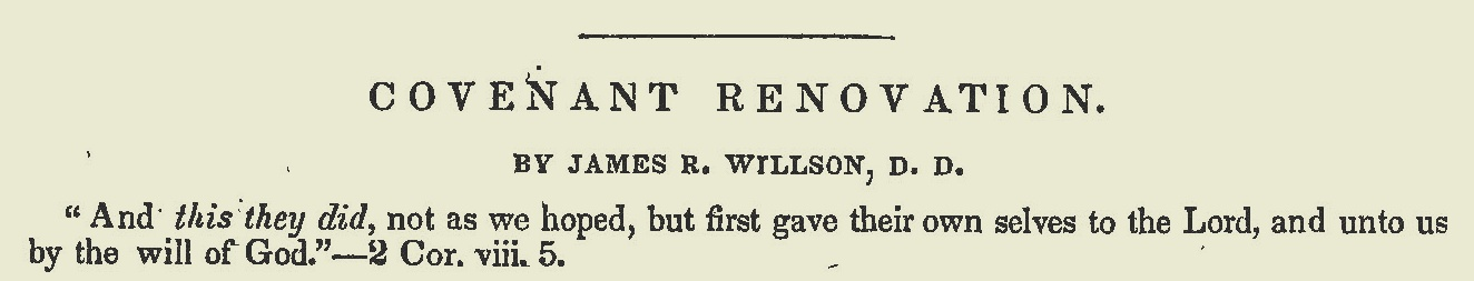 Willson, James Renwick, Covenant Renovation Title Page.jpg