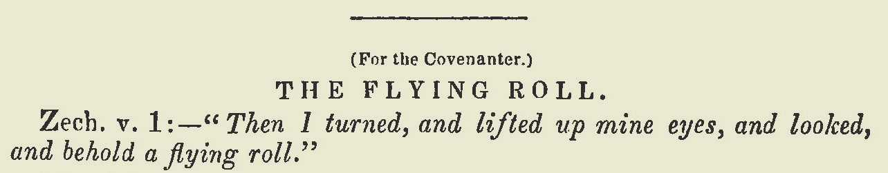 Willson, James Renwick, The Flying Roll Title Page.jpg