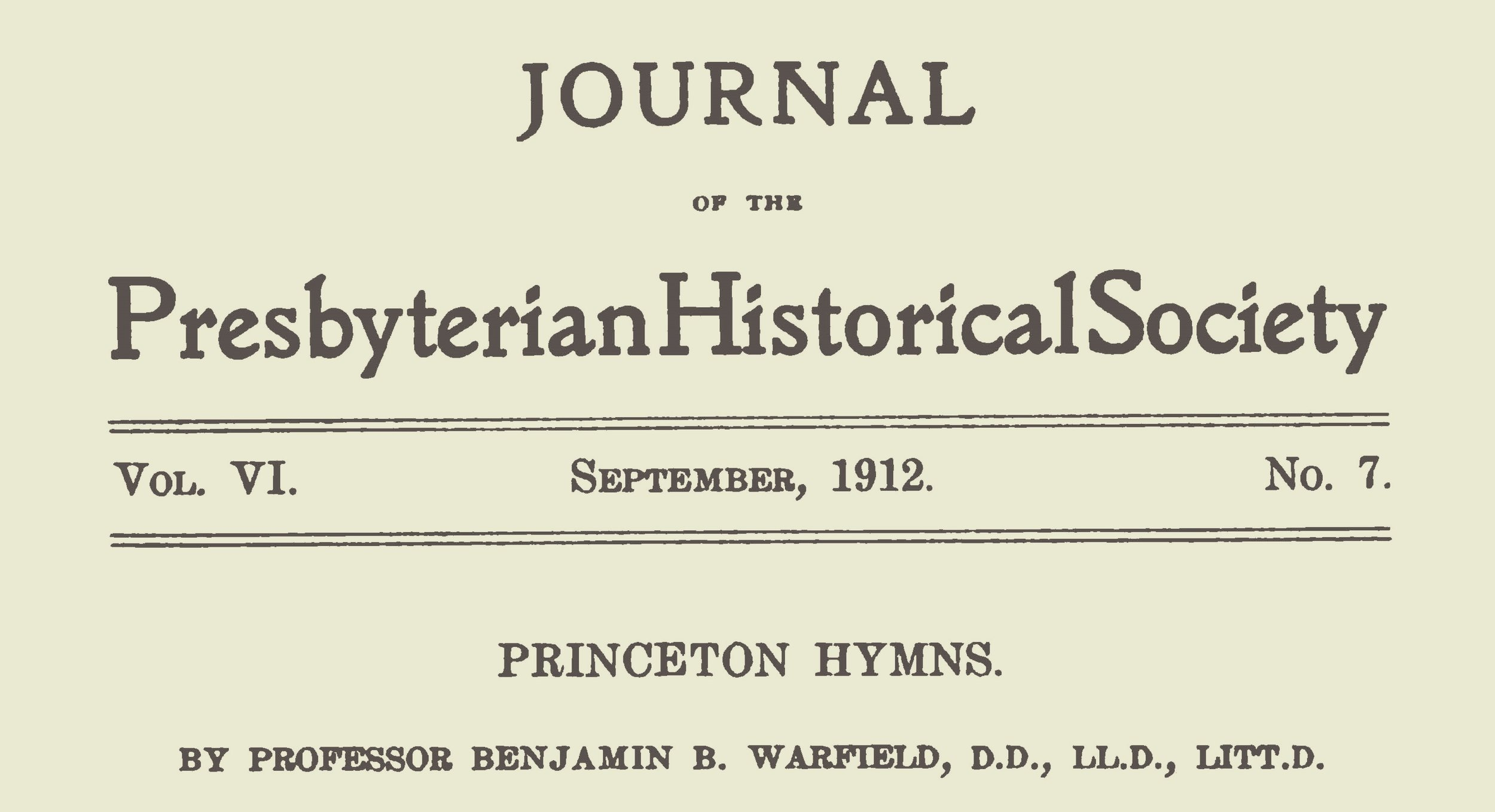 Warfield, Benjamin Breckinridge, Princeton Hymns Title Page.jpg