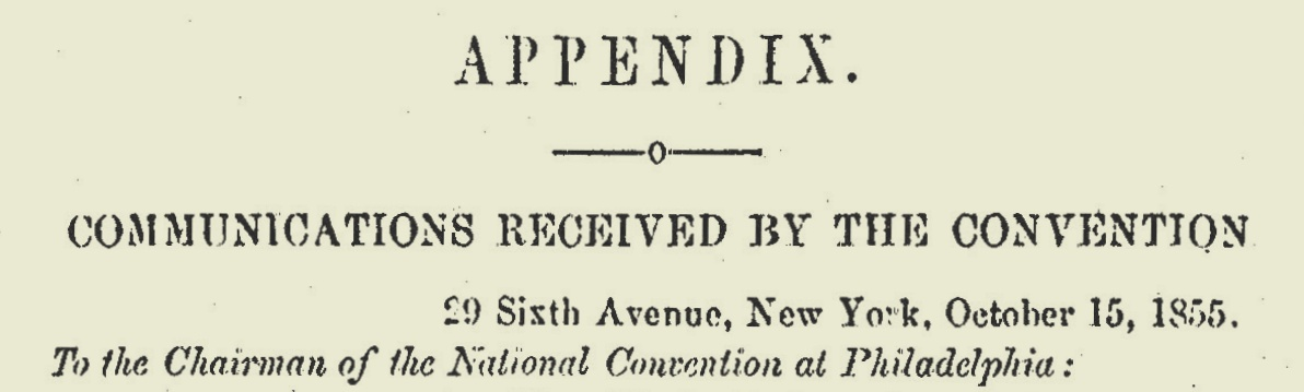 Pennington, James W.C., October 15, 1855 Letter to the Colored National Convention Title Page.jpg