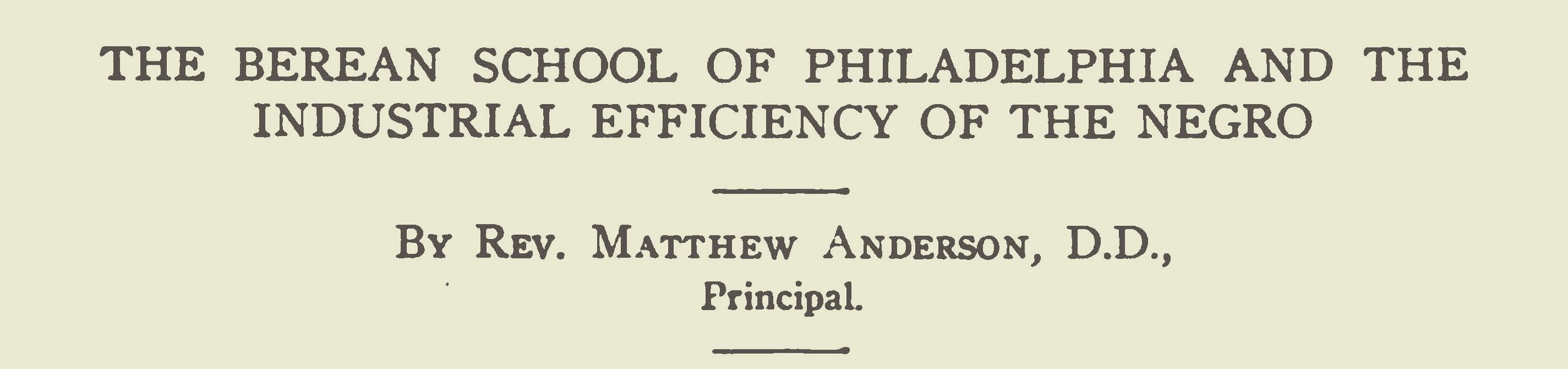 Anderson, Matthew, The Berean School of Philadelphia Title Page.jpg