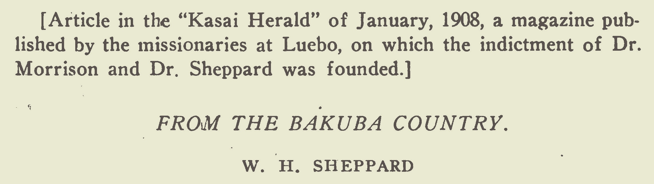 Sheppard, William Henry, From the Bakuba Country Title Page.jpg