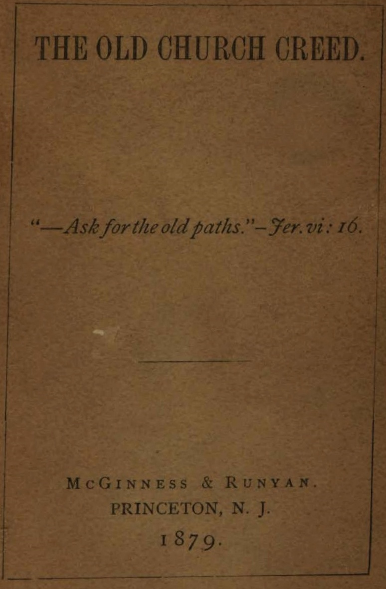Miller, John, The Old Church Creed Title Page.jpg