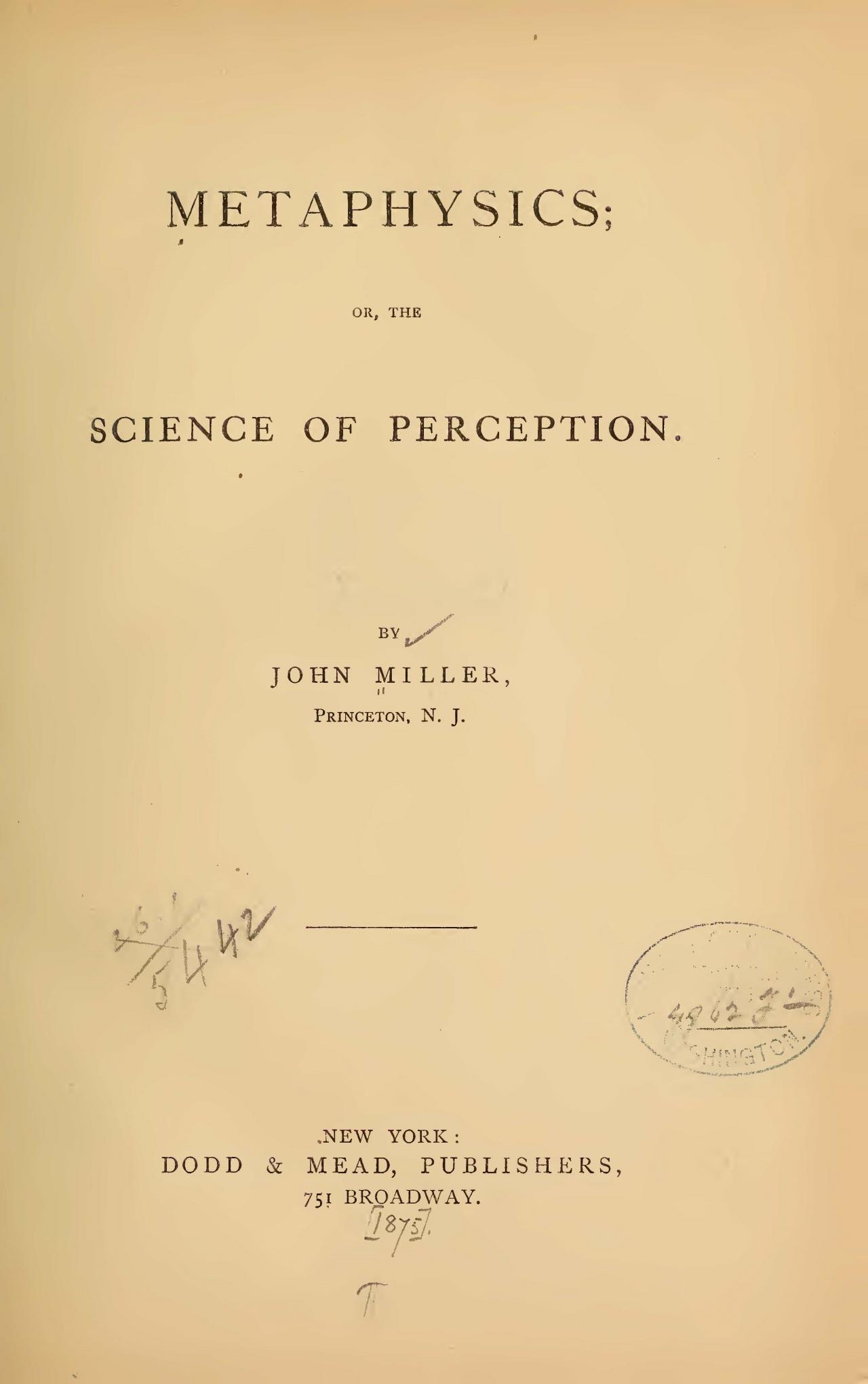 Miller, John, Metaphysics Title Page.jpg