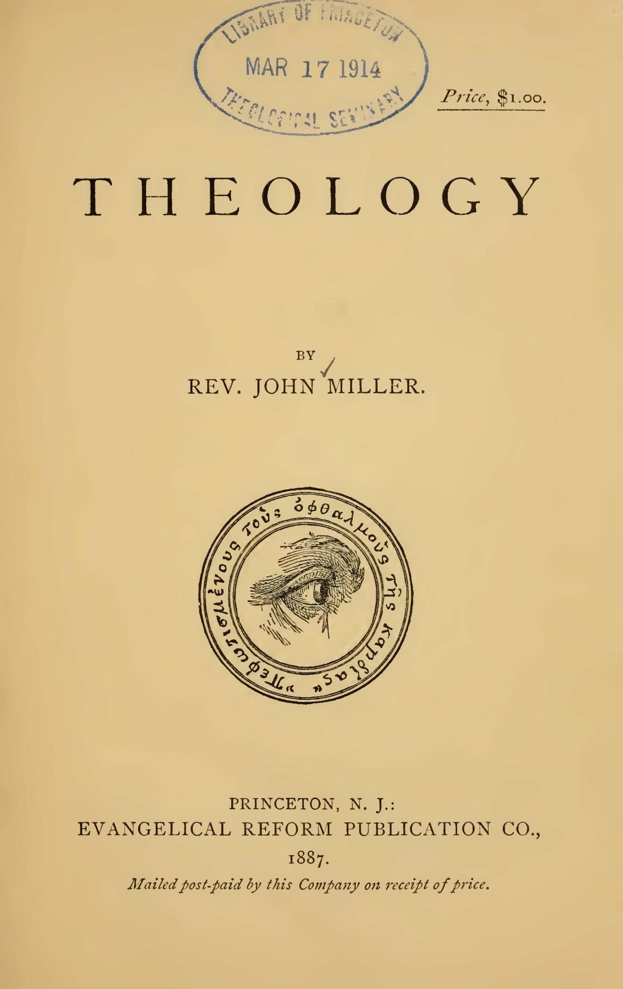 Miller, John, Theology Title Page.jpg