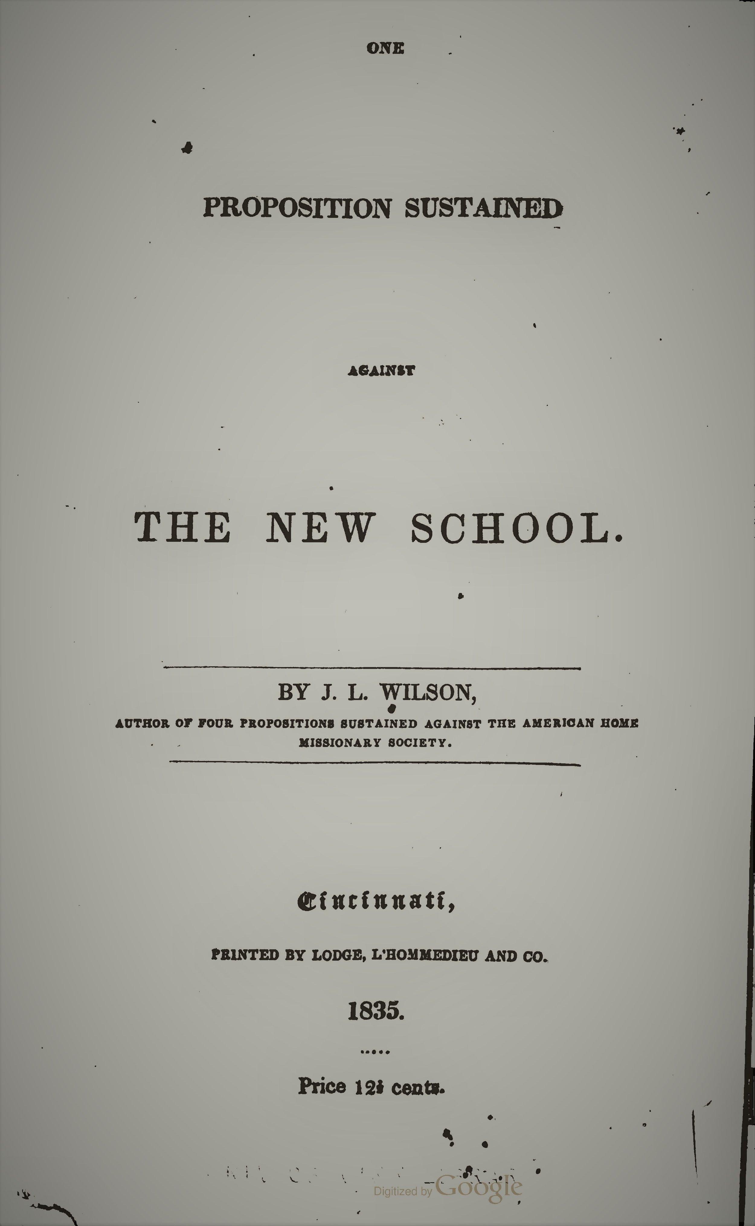 Wilson, Joshua Lacy - Proposition Against New School.jpg
