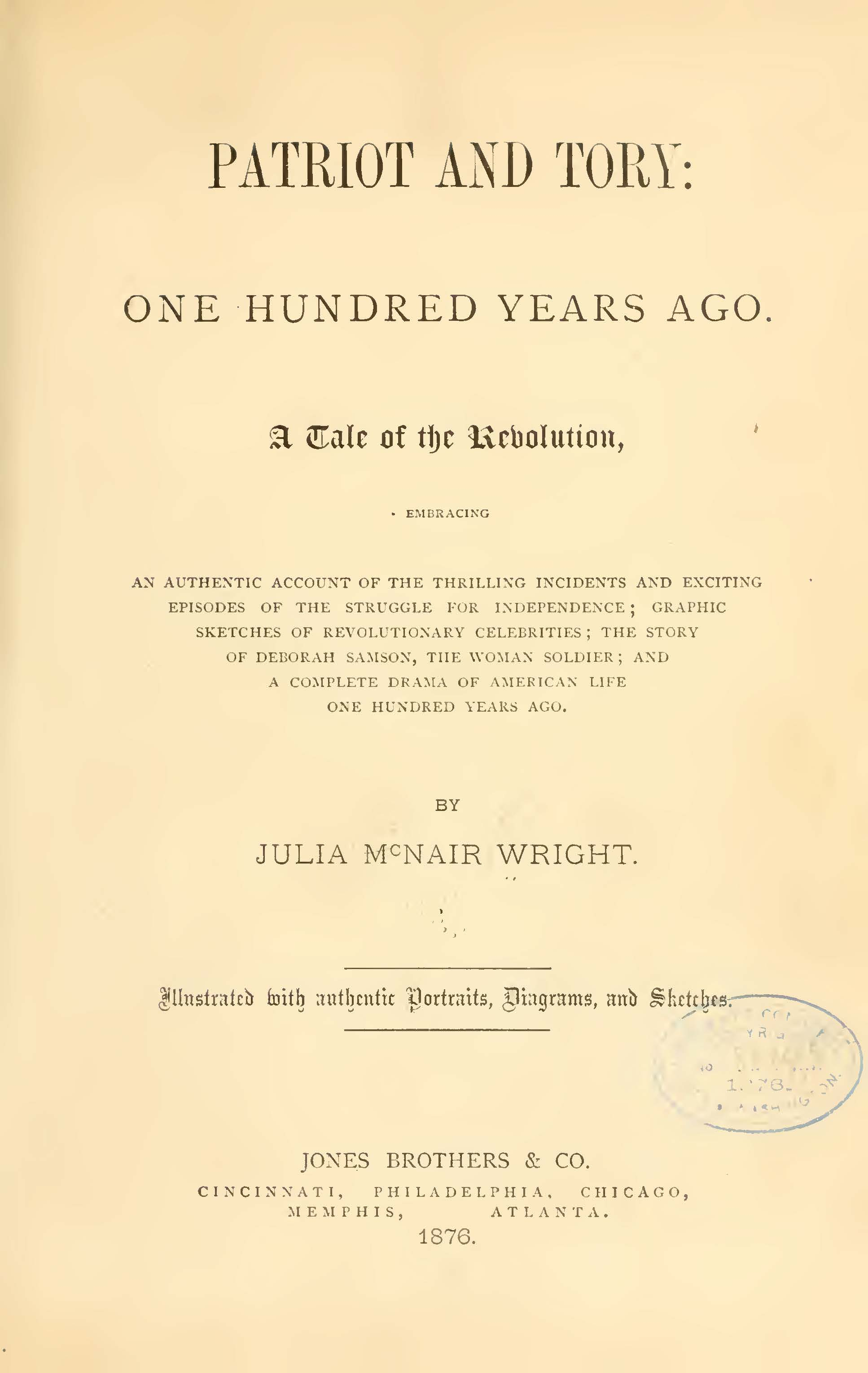 Wright, Julia McNair, Patriot and Tory Title Page.jpg