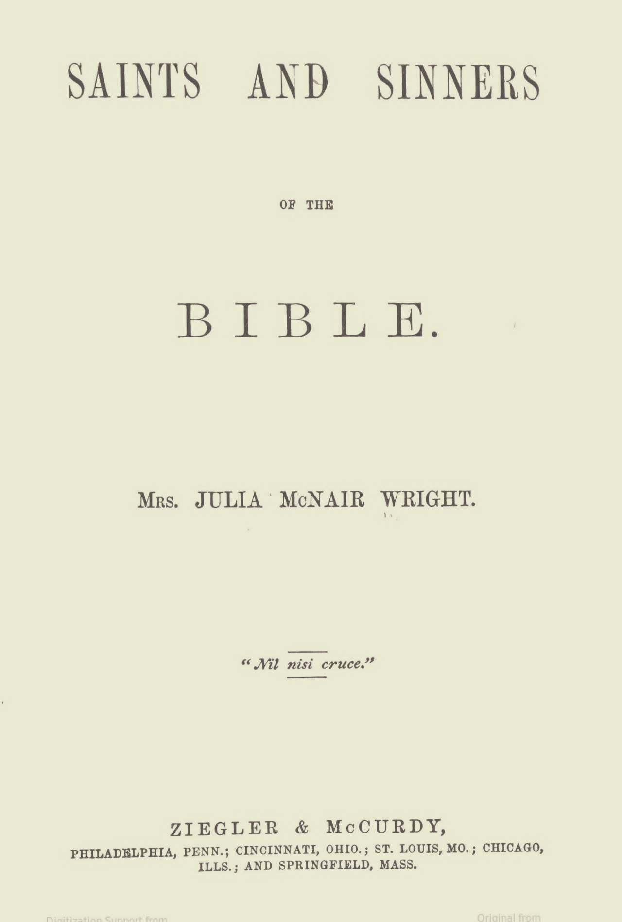 Wright, Julia McNair, Saints and Sinners of the Bible Title Page.jpg