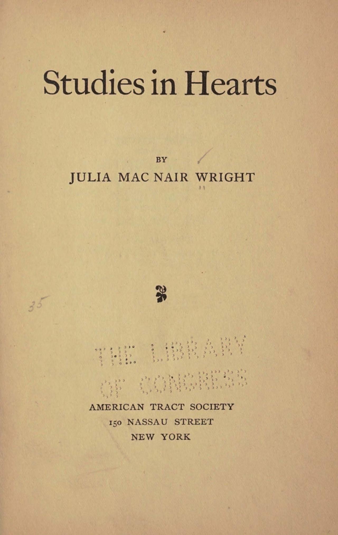 Wright, Julia McNair, Studies in Hearts Title Page.jpg