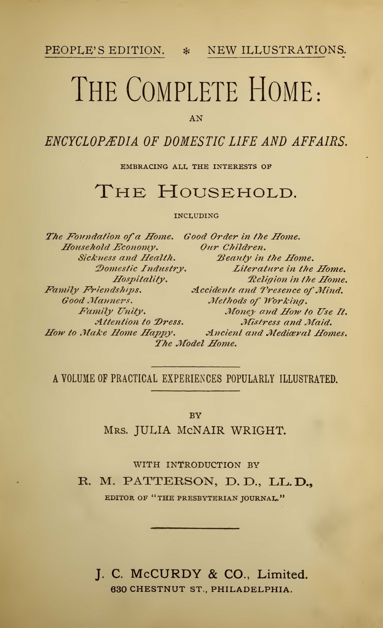 Wright, Julia McNair, The Complete Home Title Page.jpg