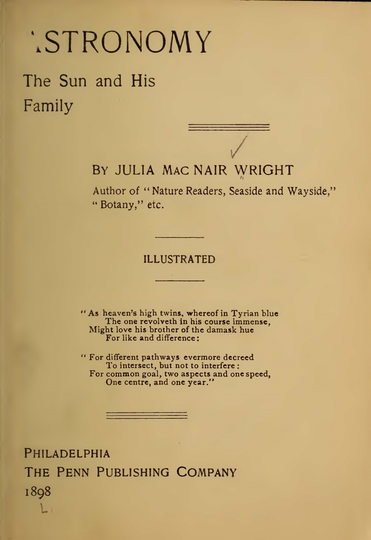 Wright, Julia McNair, Astronomy Title Page.jpg