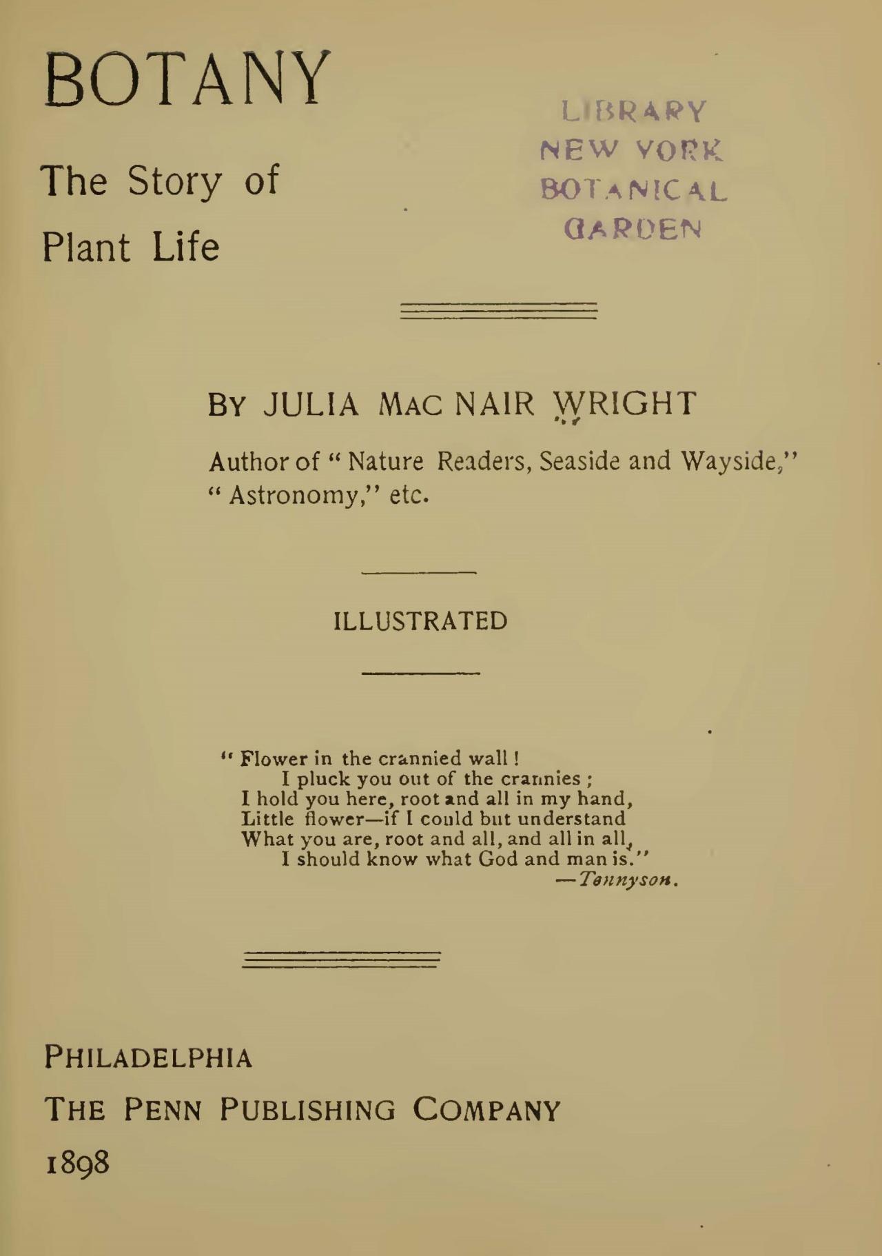 Wright, Julia McNair, Botany Title Page.jpg