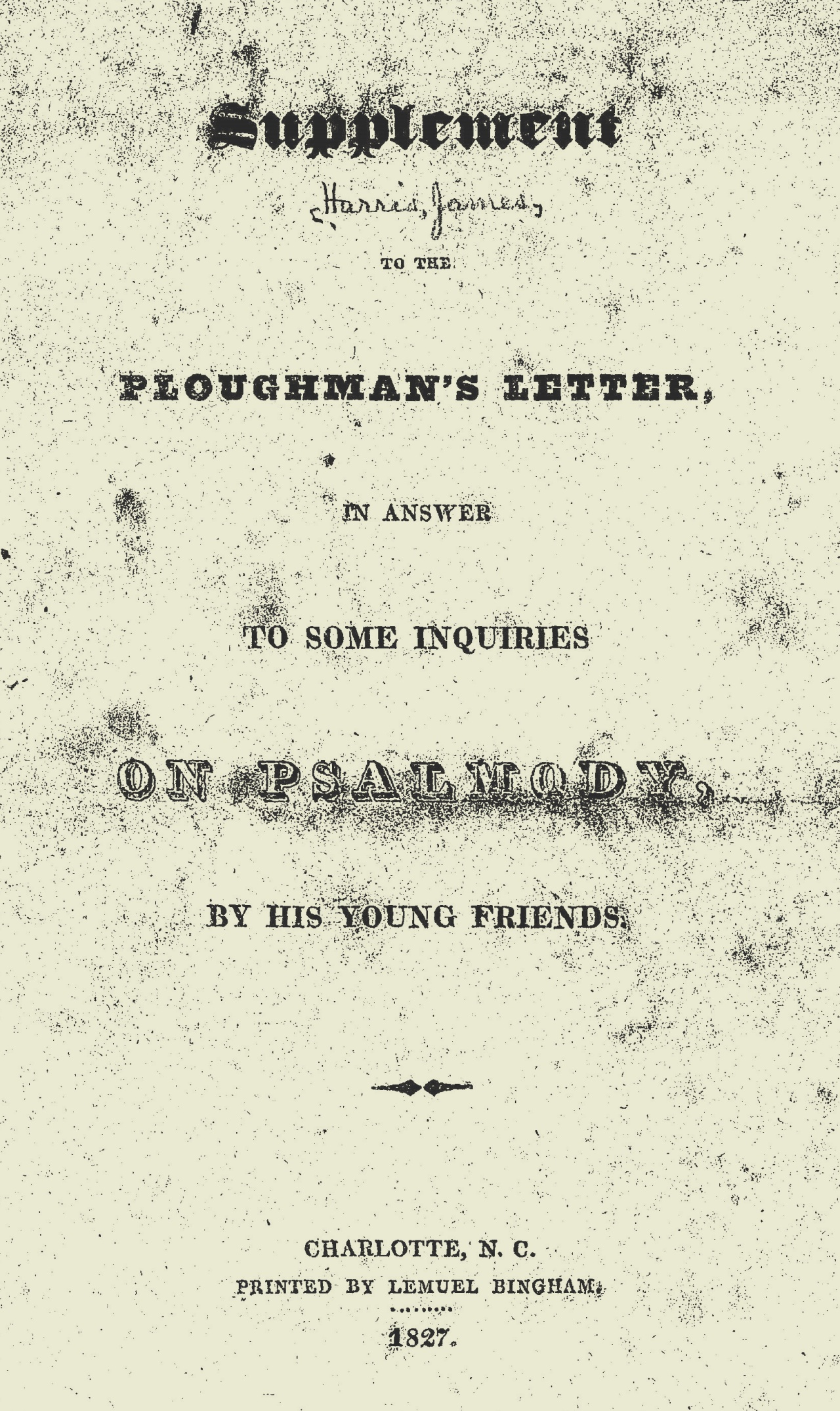 Harris, James, Supplement to the Ploughman's Letter Title Page.jpg