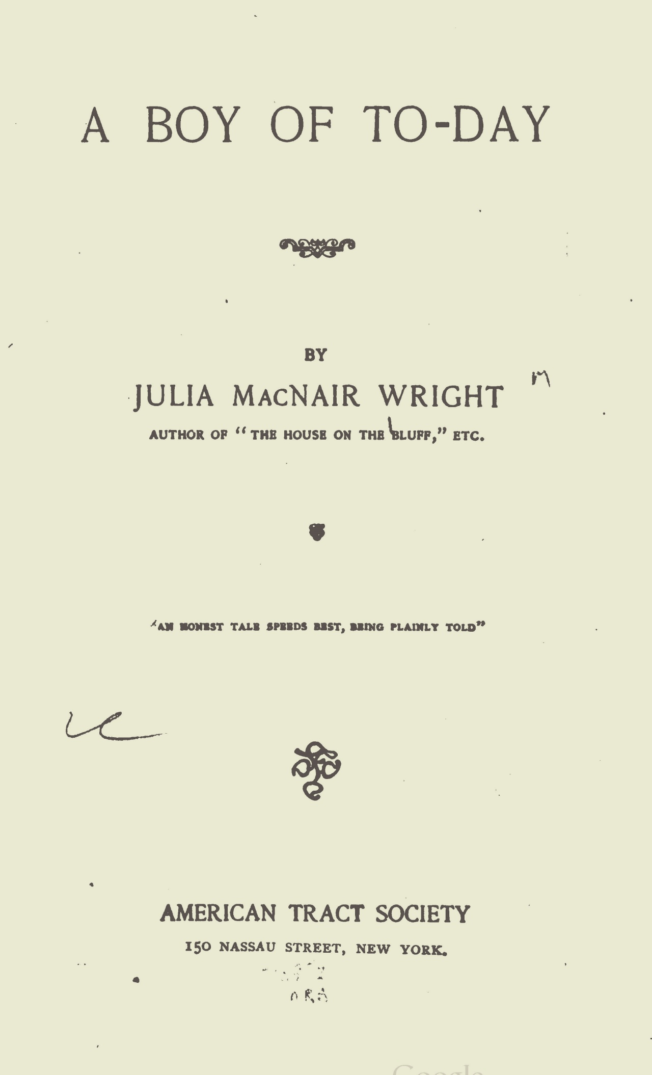 Wright, Julia McNair, A Boy of To-Day Title Page.jpg