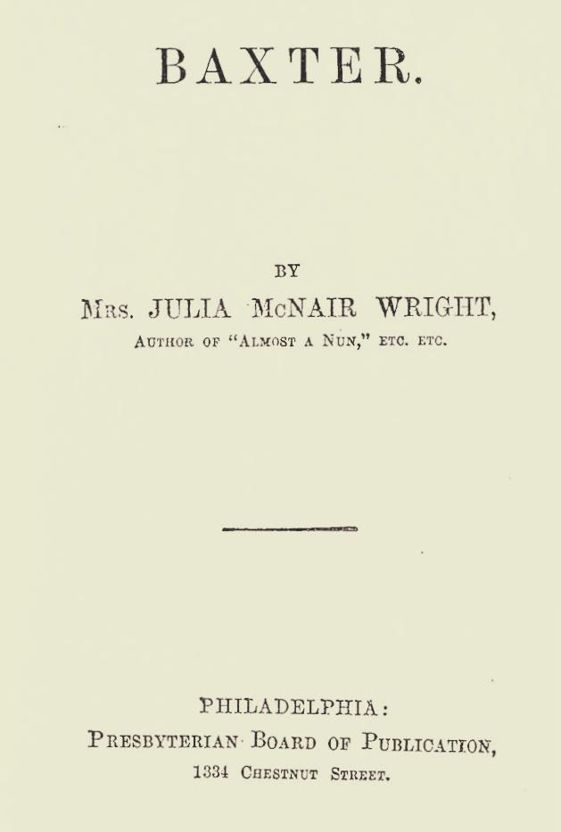 Wright, Julia McNair, Baxter Title Page.jpg