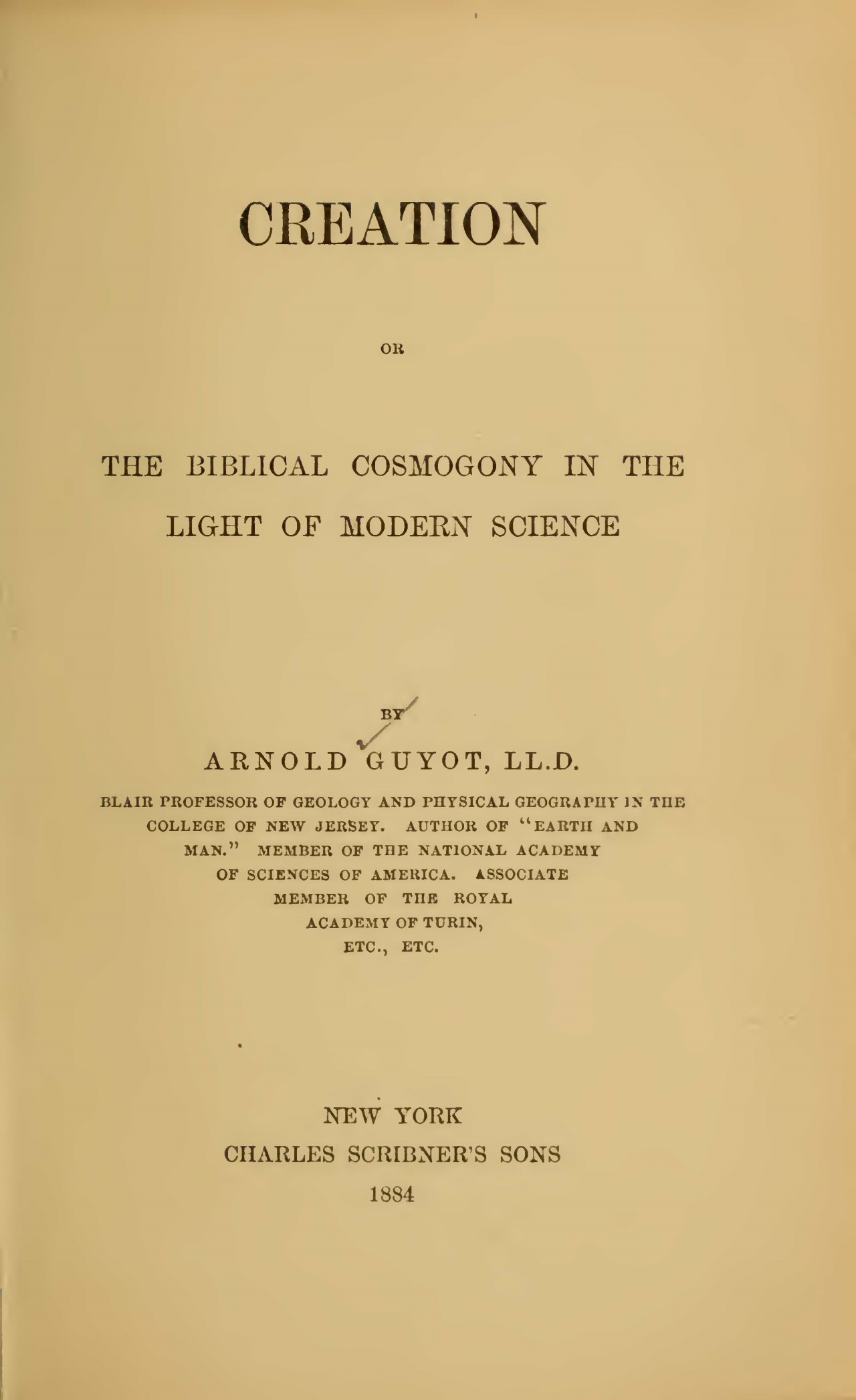 Guyot, Arnold Henry, Creation Title Page.jpg