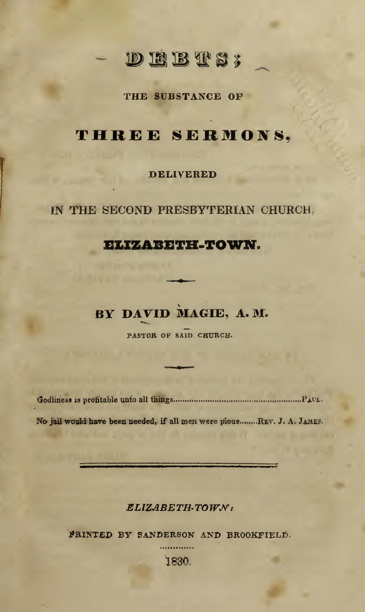Magie, David, Debts Title Page.jpg