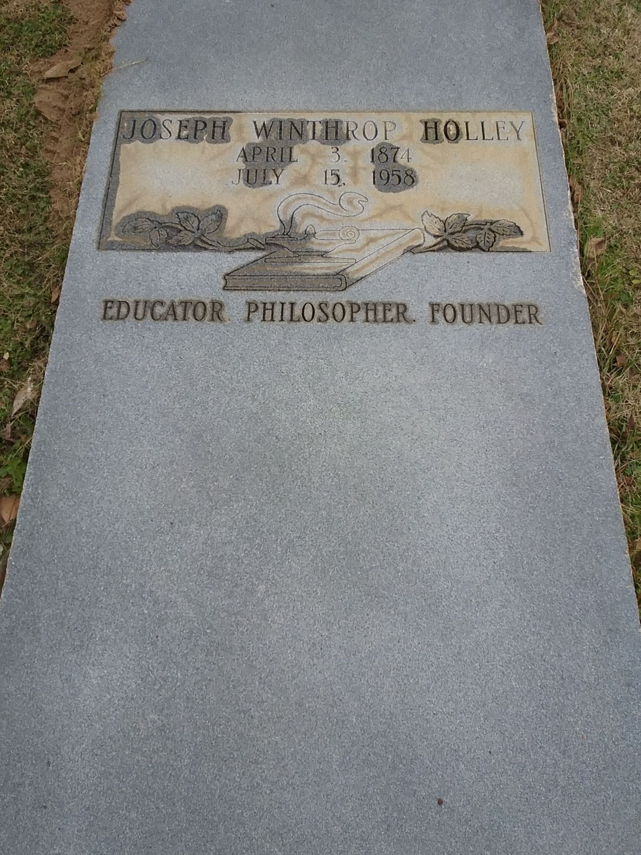 Joseph Winthrop Holley is buried at Albany State University Cemetery, Albany, Georgia.