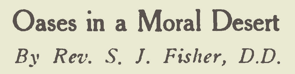 Fisher, Samuel Jackson, Oases in a Moral Desert Title Page.jpg