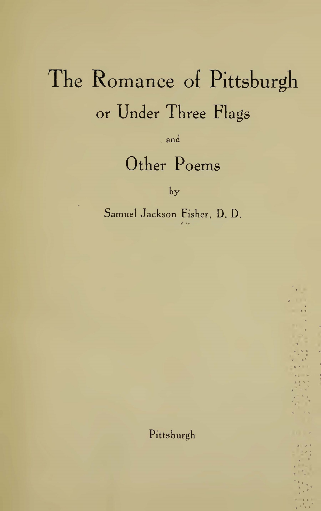 Fisher, Samuel Jackson, The Romance of Pittsburgh Title Page.jpg