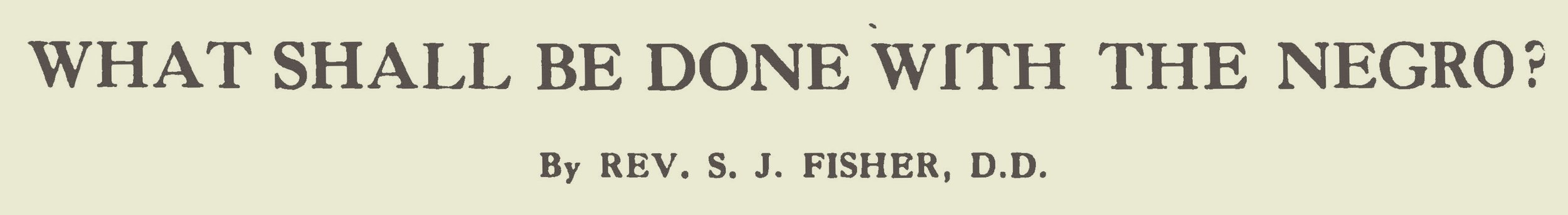 Fisher, Samuel Jackson, What Shall Be Done With the Negro Title Page.jpg