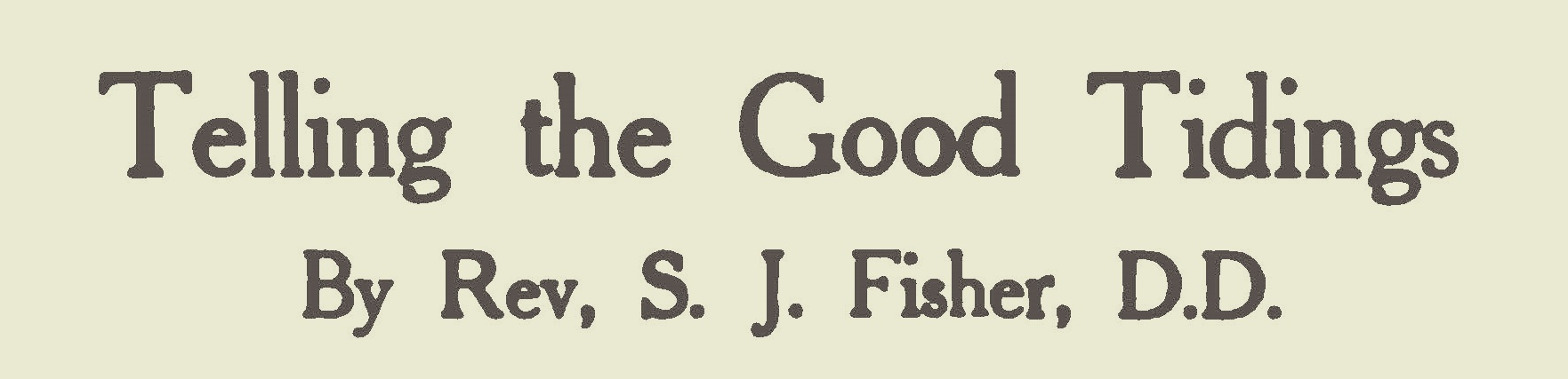 Fisher, Samuel Jackson, Telling the Good Tidings Title Page.jpg