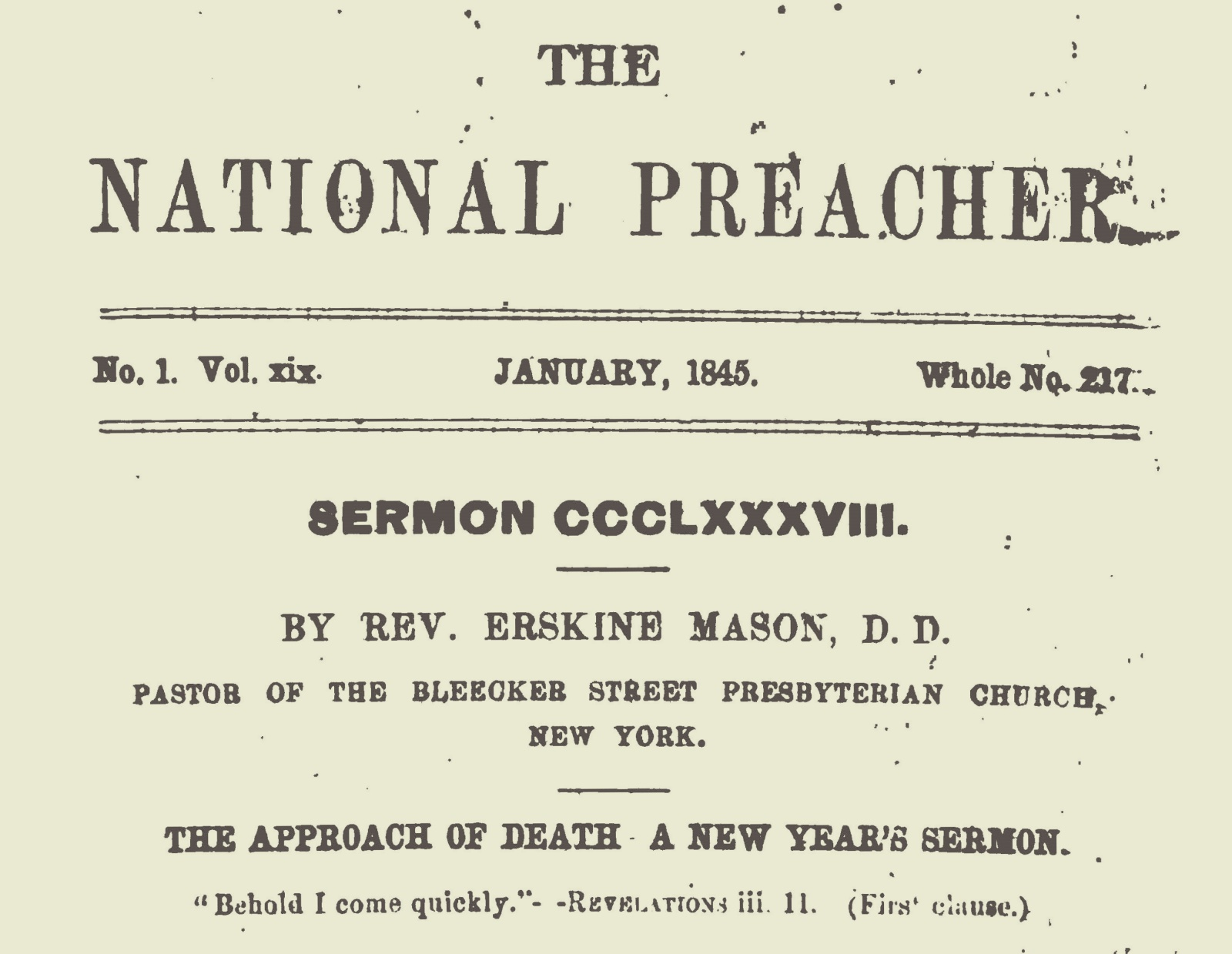 Mason, Sr., Erskine, The Approach of Death Title Page.jpg