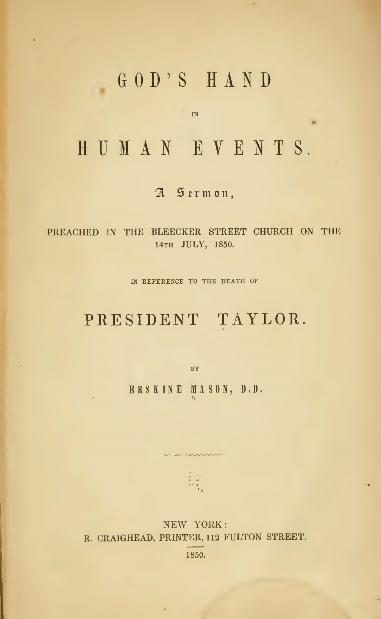 Mason, Sr., Erskine, God's Hand in Human Events Title Page.jpg