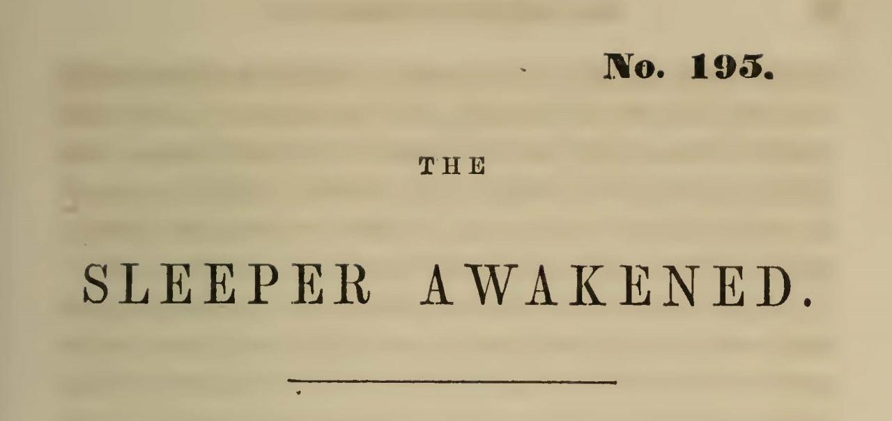 Wallace, James Albert, The Sleeper Awakened Title Page.jpg
