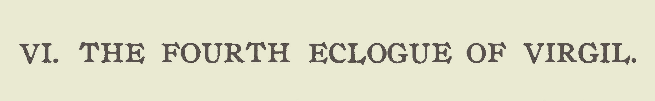 Wright, Julia McNair, The Fourth Eclogue of Virgil Title Page.jpg