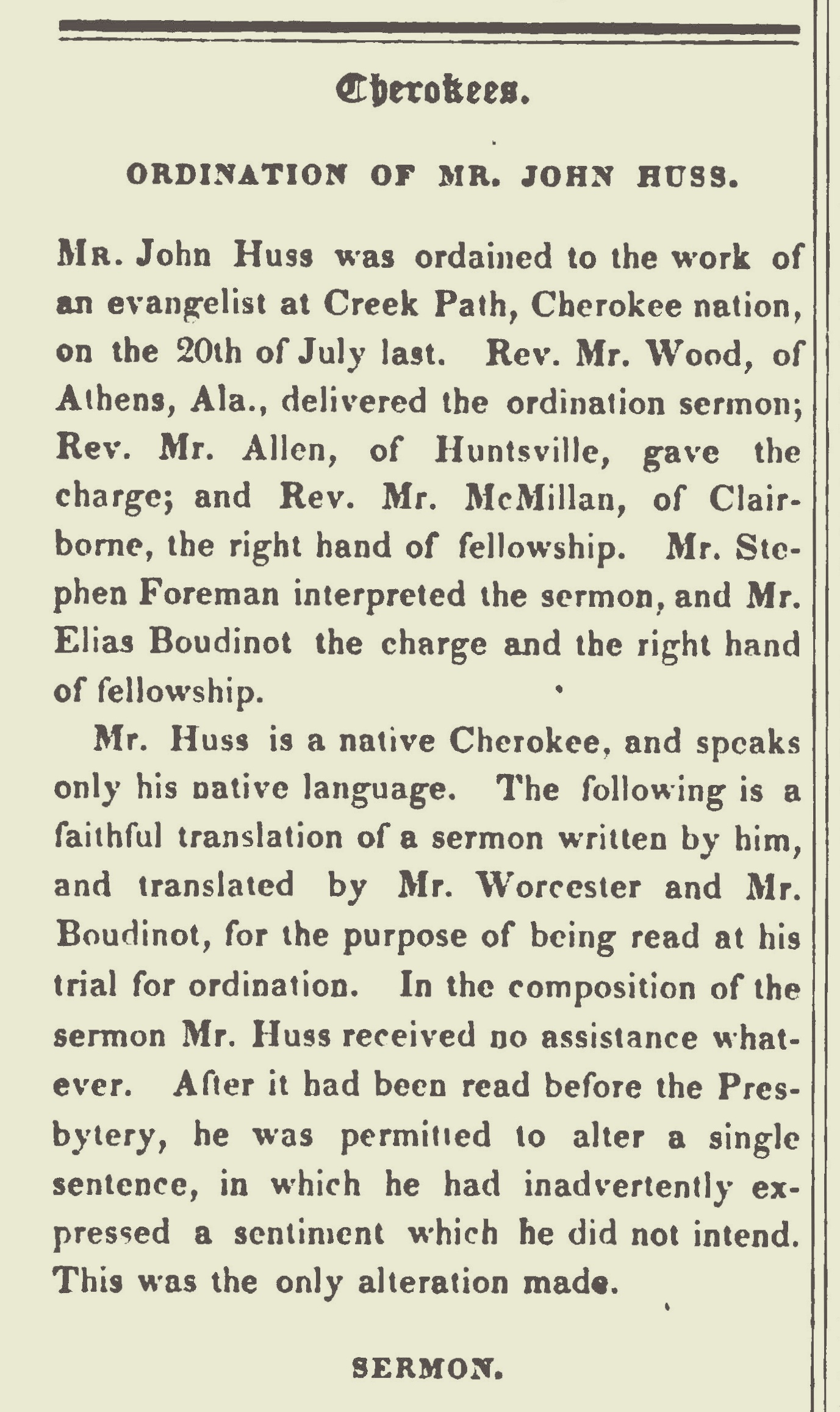 Huss, John, Ordination Sermon Title Page.jpg