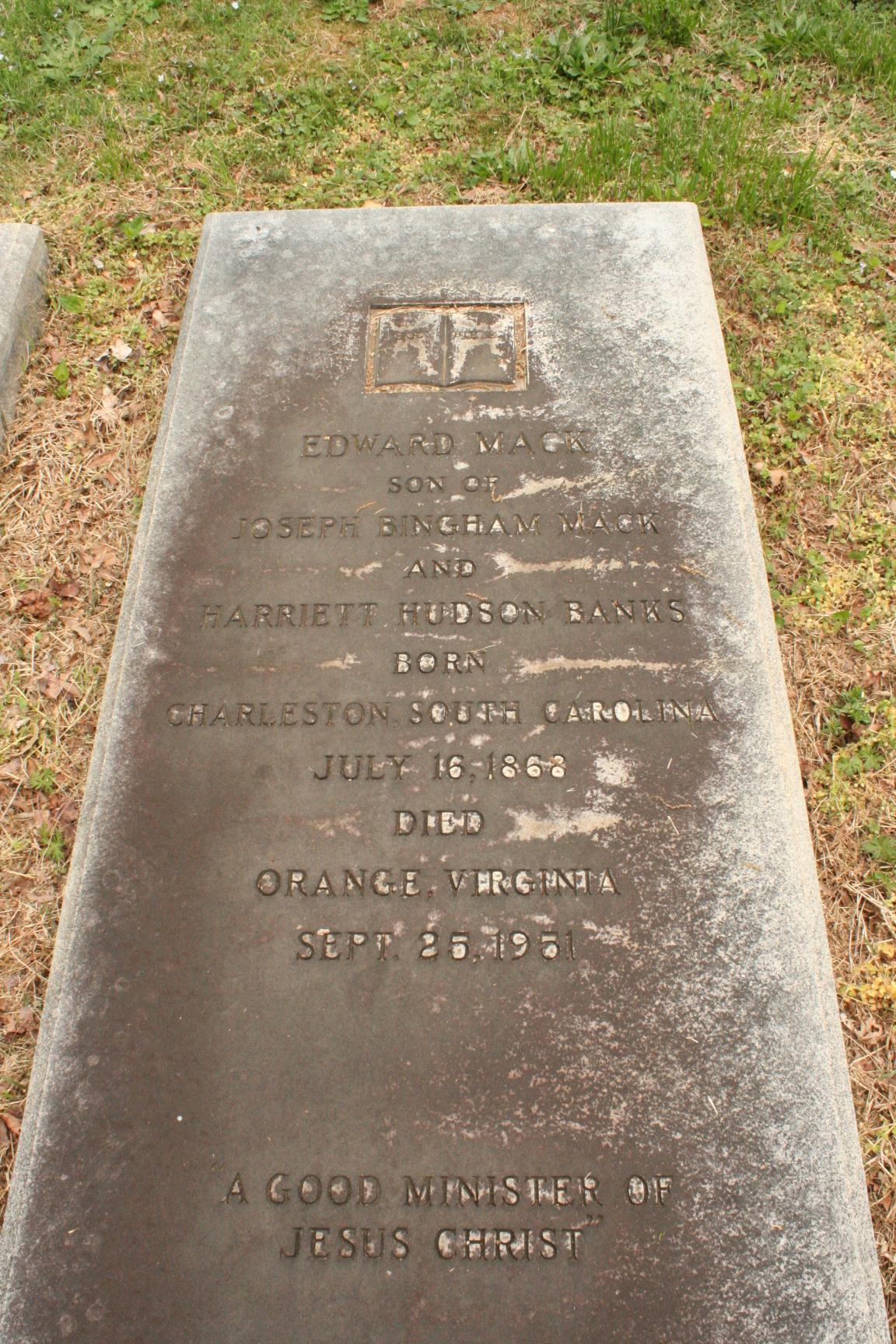 Edward Mack, Sr. is buried at Hollywood Cemetery, Richmond, Virginia.