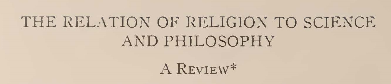 Machen, John Gresham, The Relation of Religion to Science and Philosophy Title Page.jpg