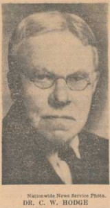 Caspar Wistar Hodge, Jr. is buried at Princeton Cemetery, Princeton, New Jersey.