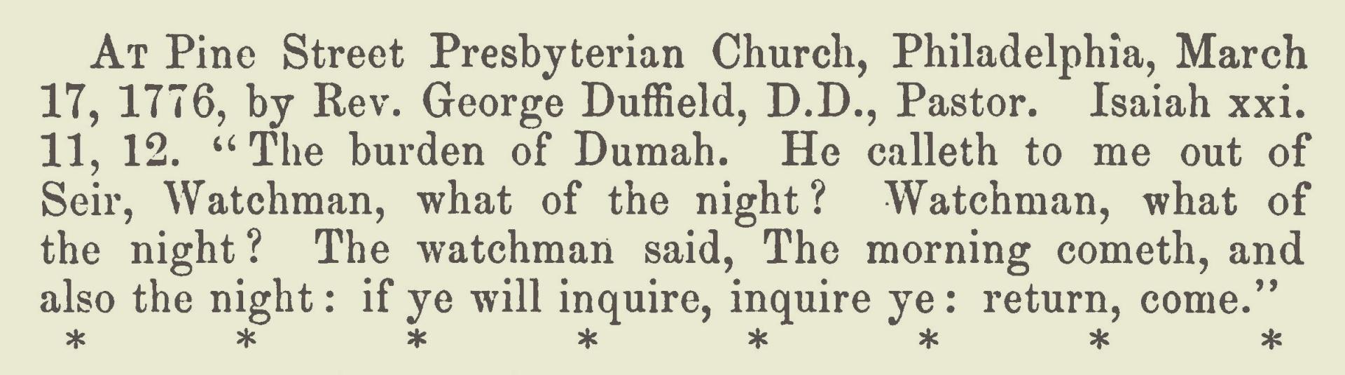 Duffield, II, George, March 17, 1776 Sermon Title Page.jpg