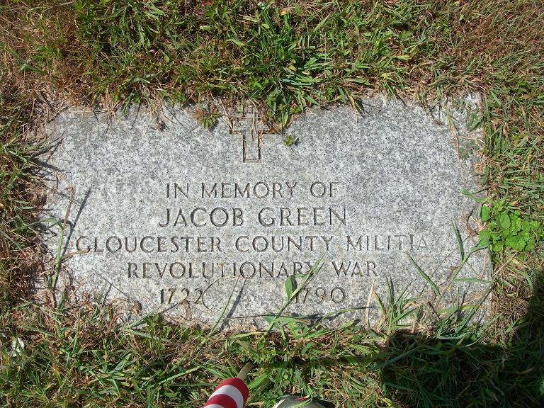 Jacob Green is buried at First Presbyterian Church of Hanover Cemetery, Hanover, New Jersey.