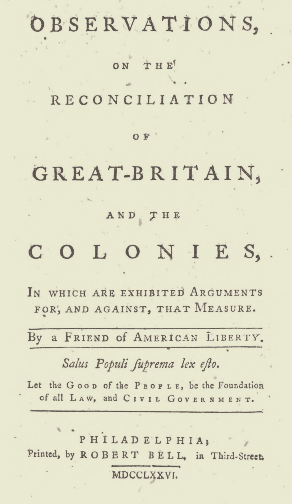 Green, Jacob, Observations on the Reconciliation of Great-Britain, and the Colonies Title Page.jpg