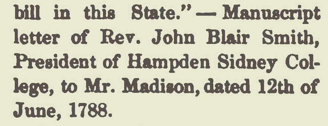 Smith, John Blair, 1788 Letter to James Madison Title Page.jpg