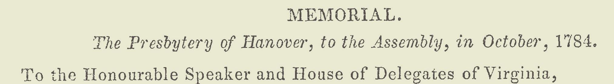 Smith, John Blair, October 1784 Memorial Petition Title Page.jpg