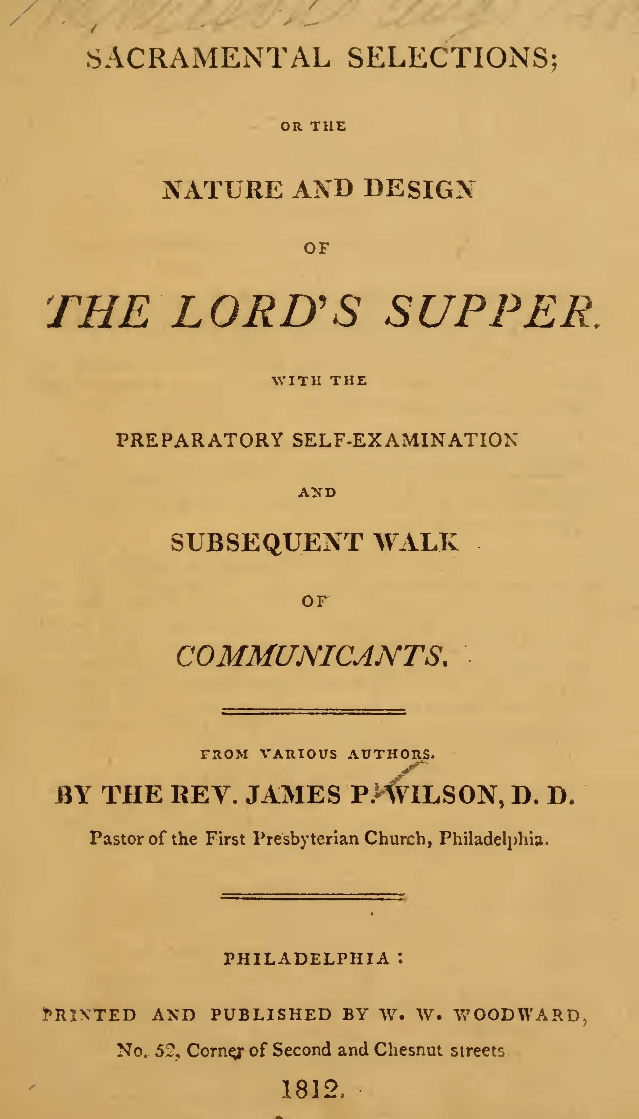 Wilson, Sr., James Patriot, Sacramental Selections Title Page.jpg