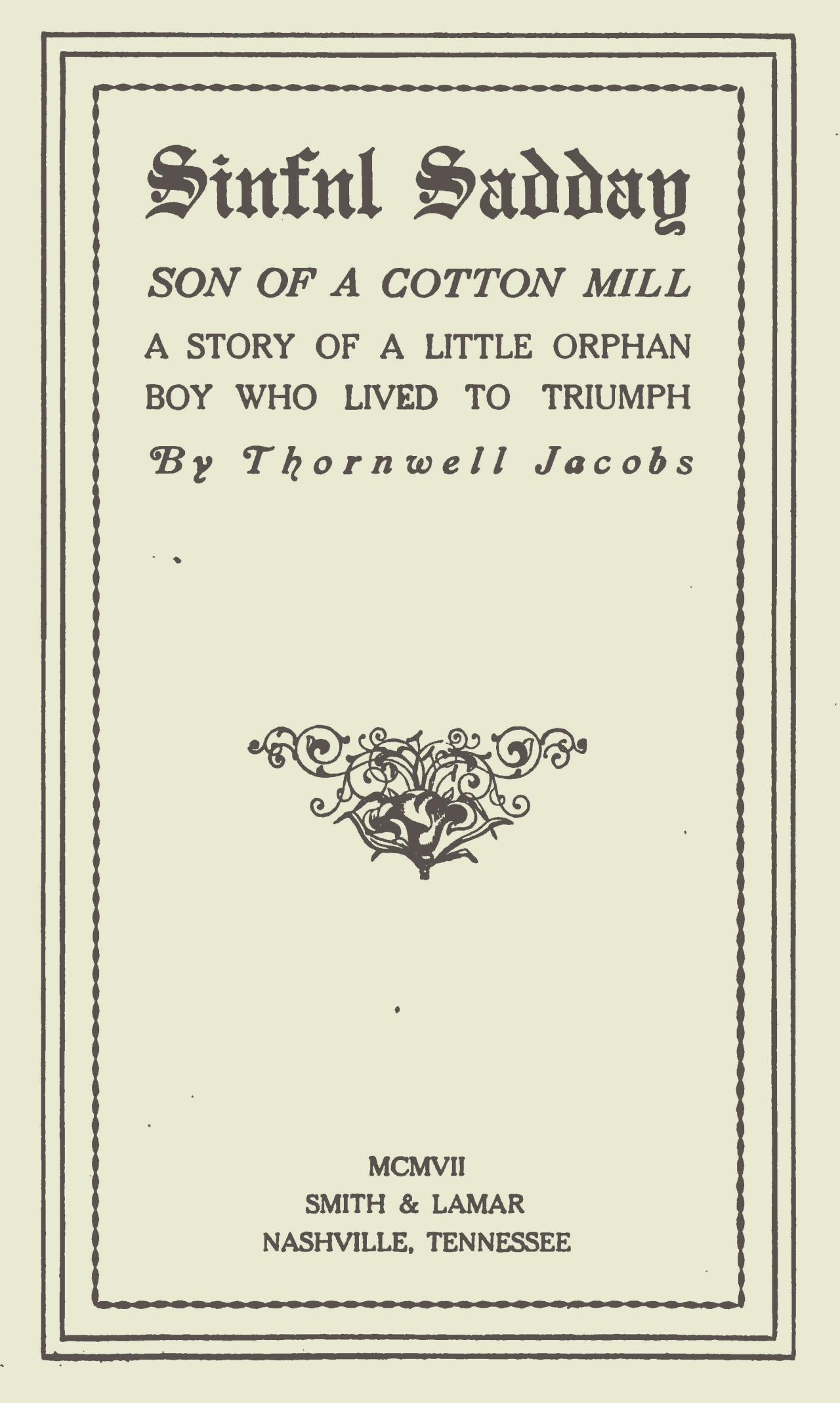 Jacobs, Thornwell, Sinful Sadday Title Page.jpg