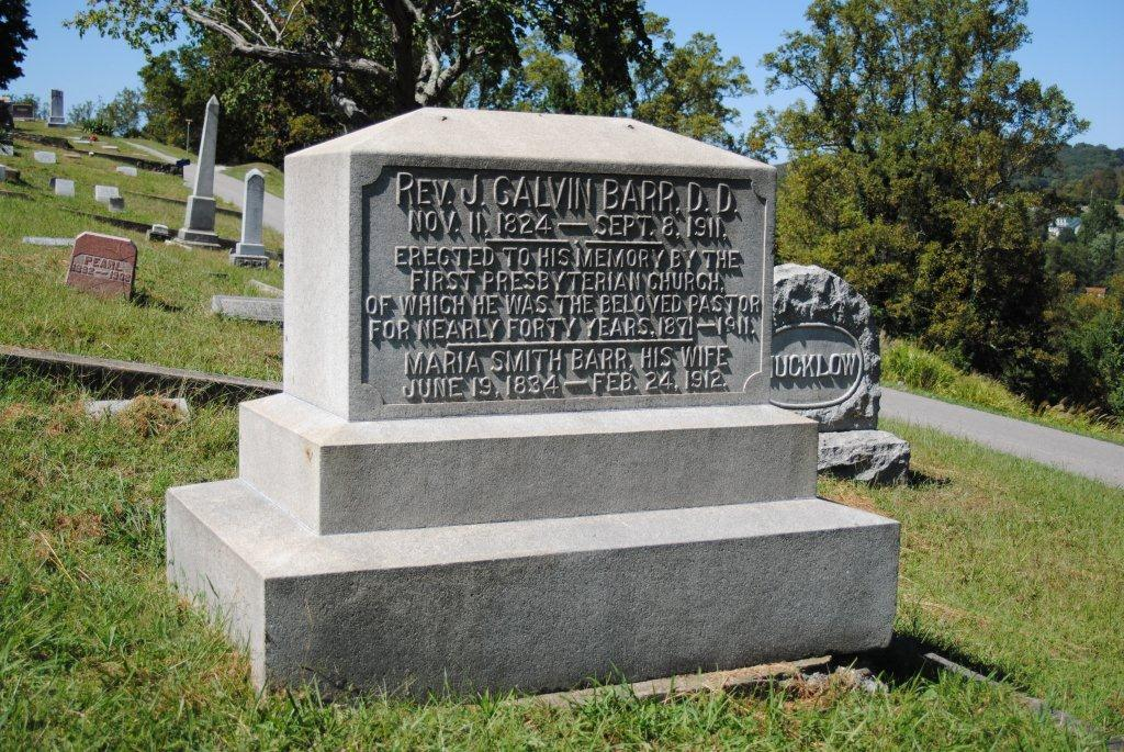 John Calvin Barr is buried at Spring Hill Cemetery, Charleston, West Virginia.