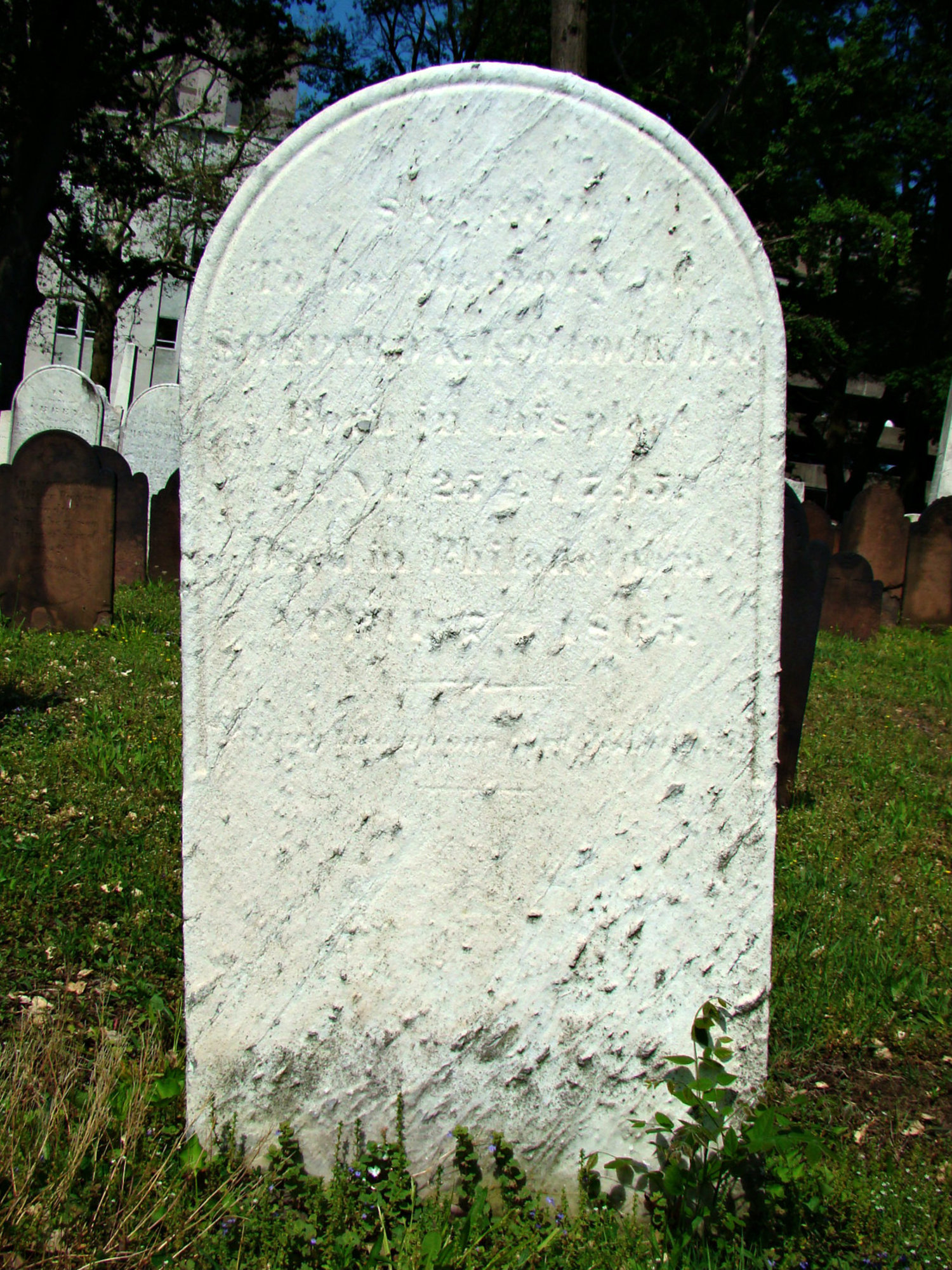 Shepard Kosciuszko Kollock is buried at the First Presbyterian Churchyard, Elizabeth, New Jersey.